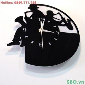 Đồng hồ treo tường mica DIY decor nghệ thuật SB001
