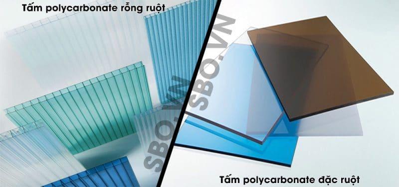 So sánh tấm lợp lấy sáng polycarbonate đặc ruột và rỗng ruột