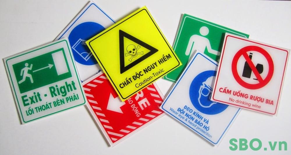 Bảng chỉ dẫn lối thoát hiểm an toàn mica