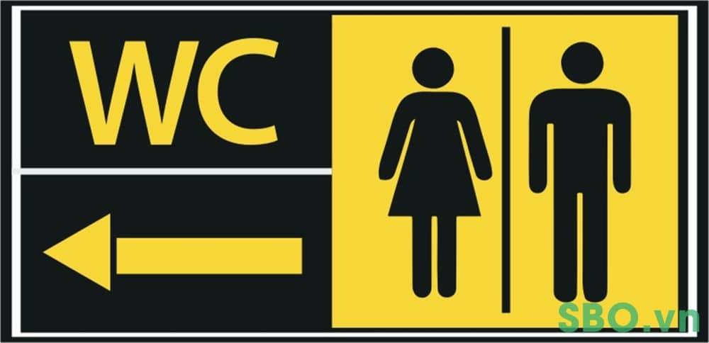 bảng chỉ dẫn nhà vệ sinh wc