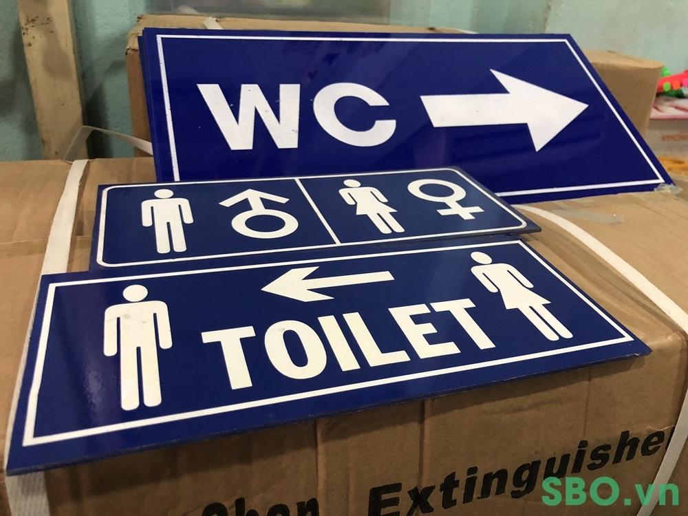 bảng nhà vệ sinh