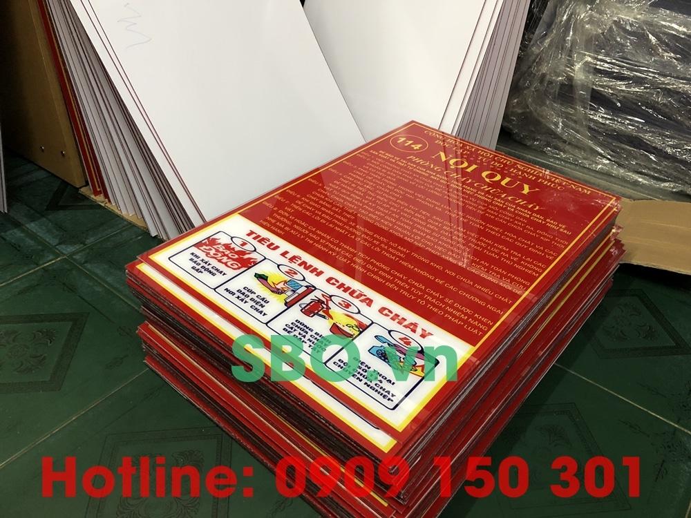 bảng nội quy tiêu lệnh phòng cháy chữa cháy gộp dung bằng mica ảnh 1