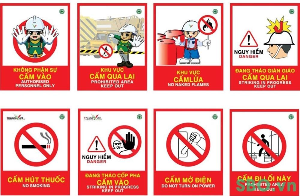 Biển báo an toàn trong công trình