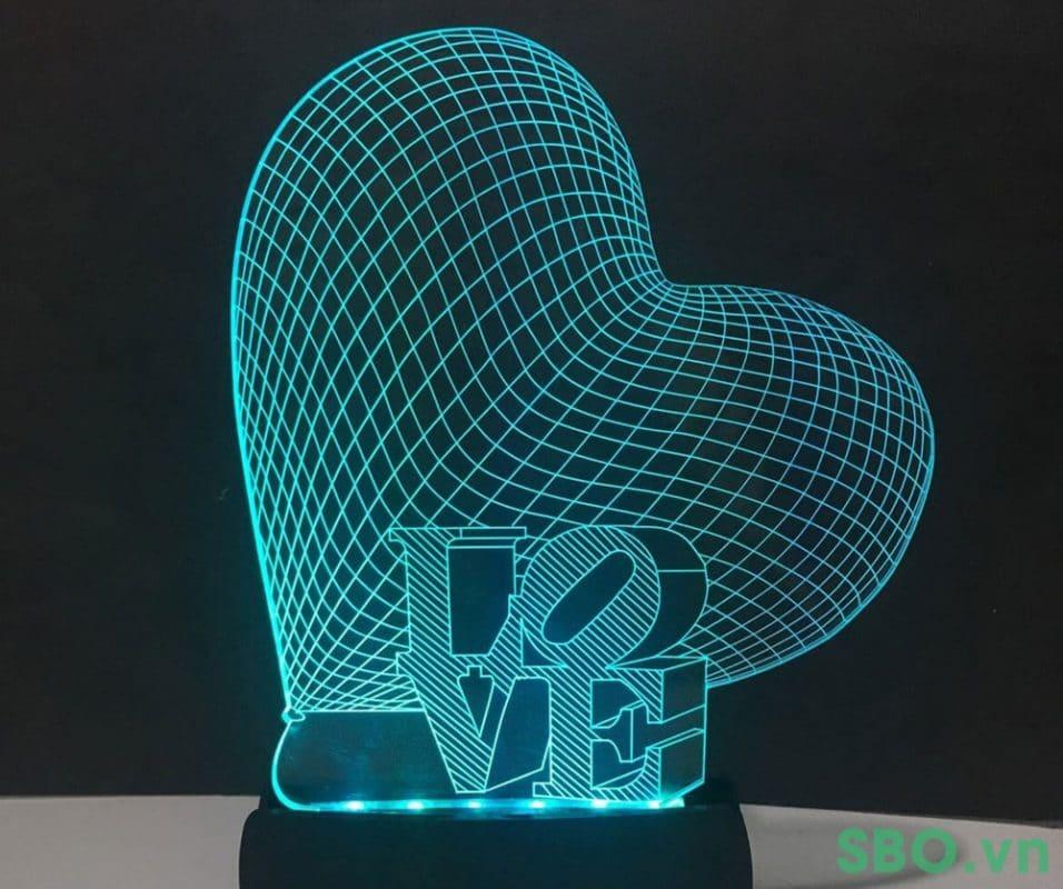 khắc led kết hợp hiệu ứng đèn