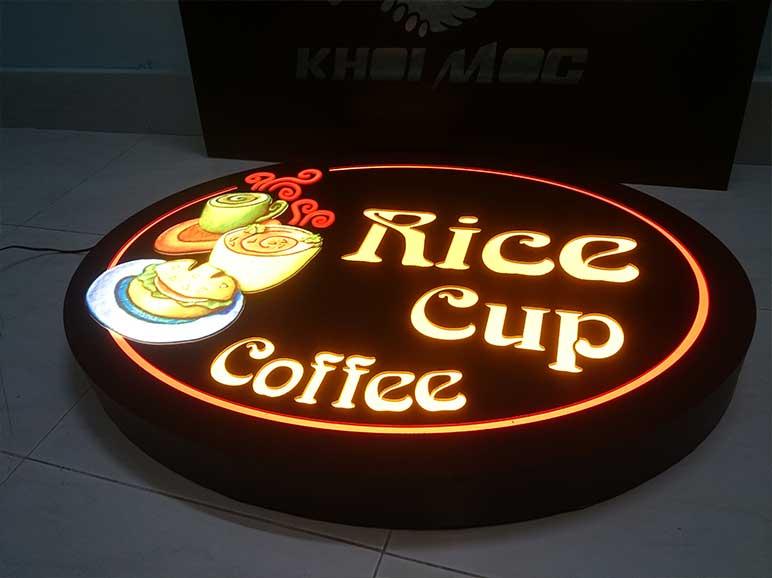 Bảng hiệu quán cafe mini