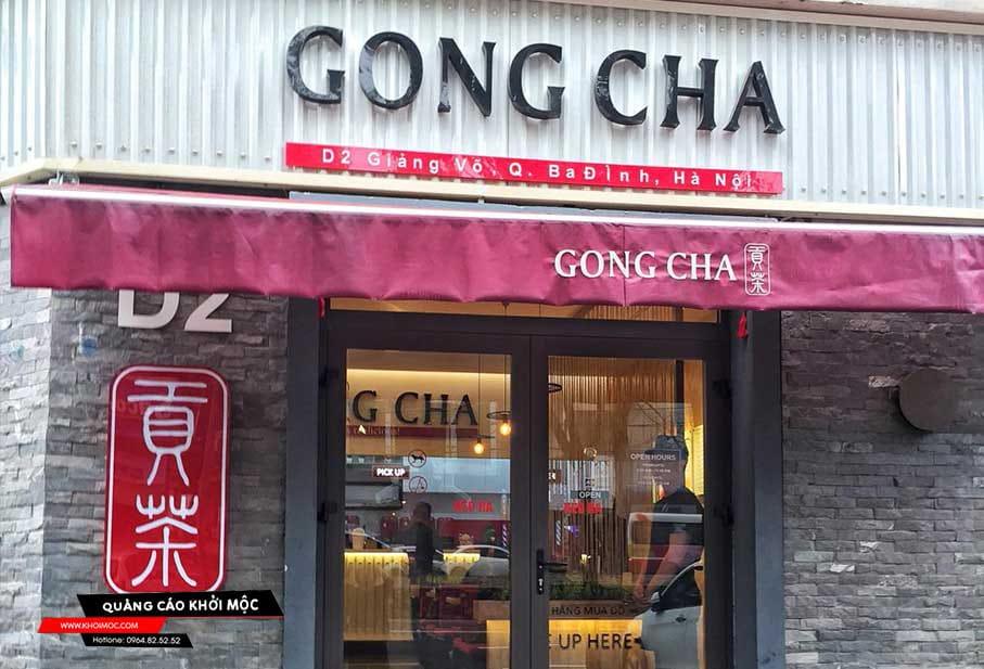Bảng hiệu quán trà sữa Gongcha