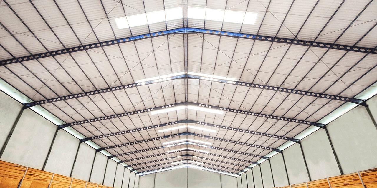 Công trình nhà xưởng sử dụng tôn chống nóng kết hợp lấy sáng