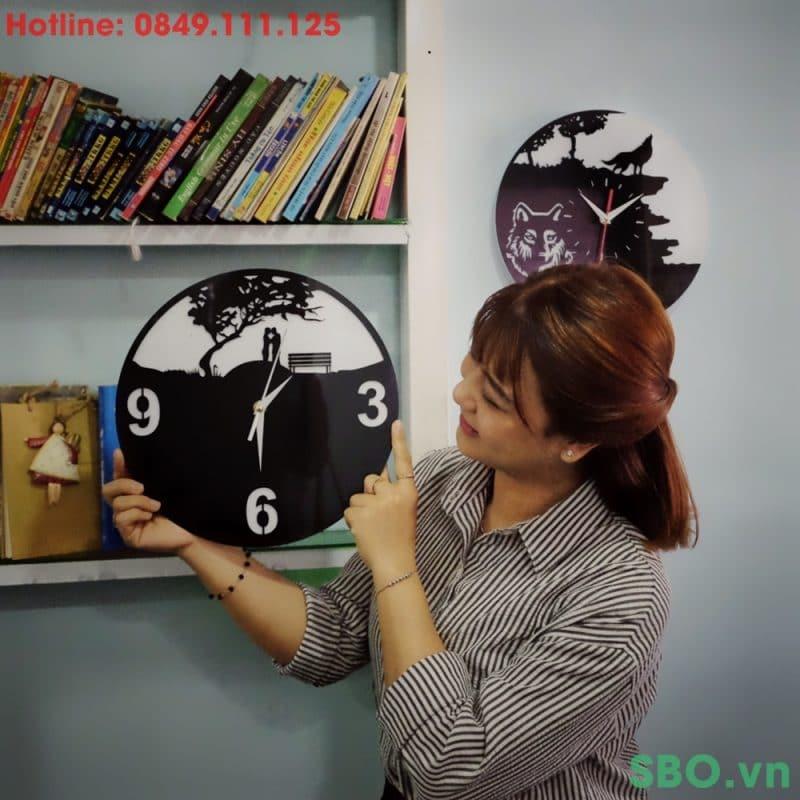 đồng hồ treo tường mica SB002