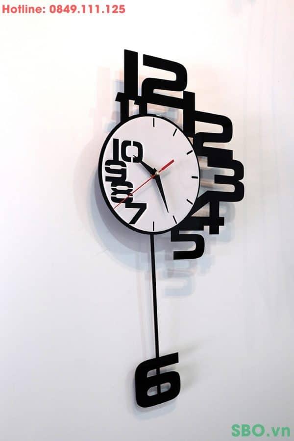 đồng hồ treo tường quả lắc mica art SB003