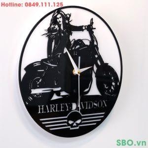 Đồng hồ treo tường mica mô tô cá tính SB005