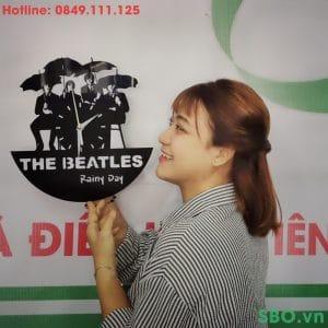 Đồng hồ treo tường mica SB006 nhóm nhạc the beatles
