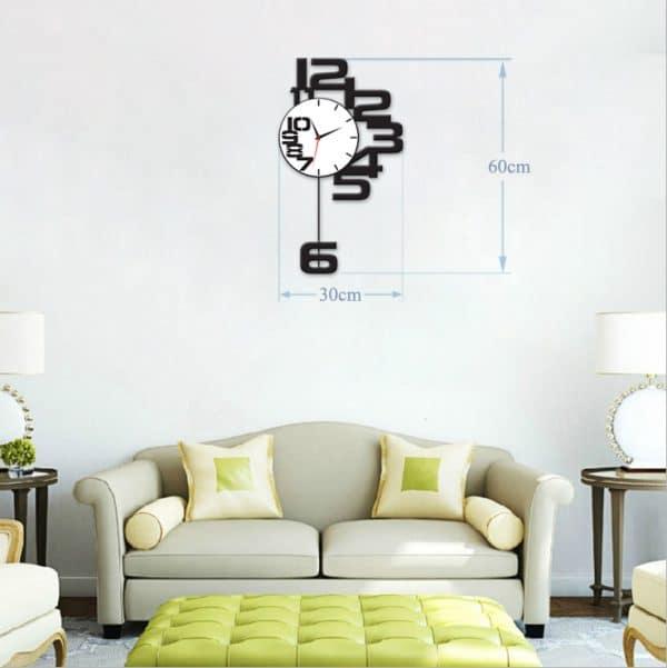 Đồng hồ treo tường mica DIY decor SB003