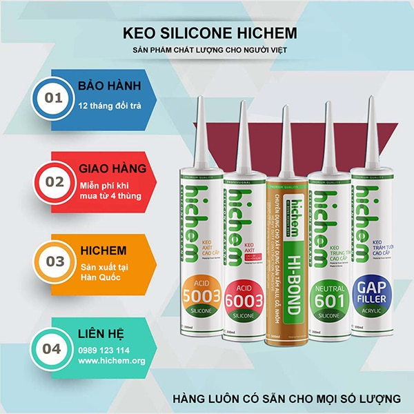 3 Bước kiểm tra keo silicone kém chất lượng