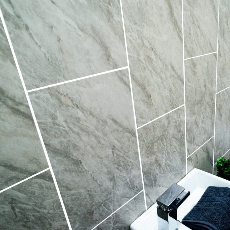 tường ốp tấm nhựa giả đá pvc trong phòng tắm