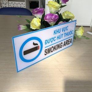 bảng báo khu vực được hút thuốc