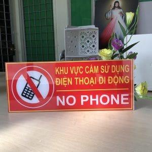 bảng cấm sử dụng điện thoại