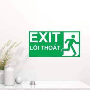 Bảng exit chỉ dẫn lối thoát hiểm Mica