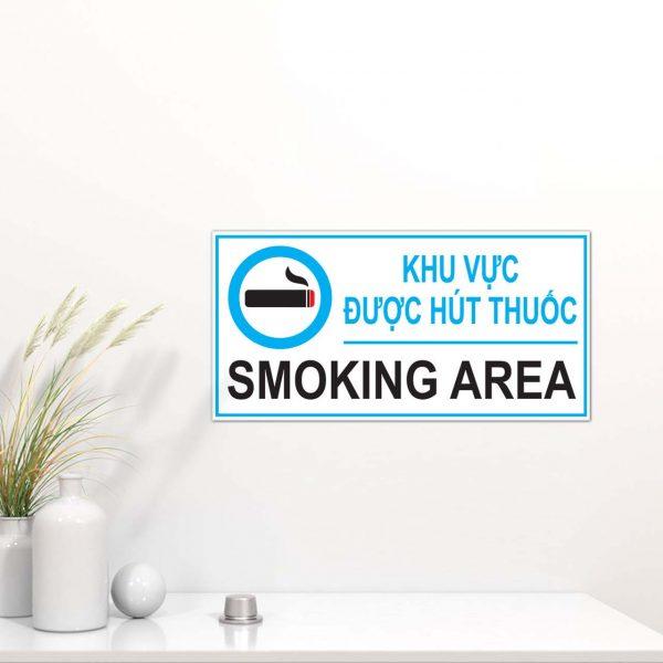 Biển báo khu vực được hút thuốc Smoking Area
