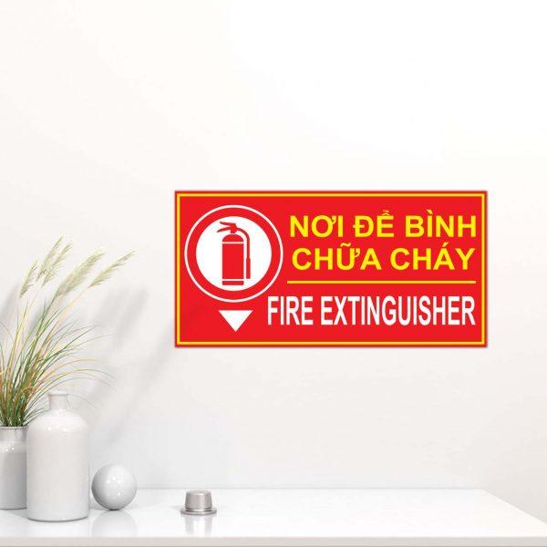 Bảng vị trí nơi để bình chữa cháy mica (Fire Extinguisher)