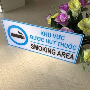 bảng smoking area