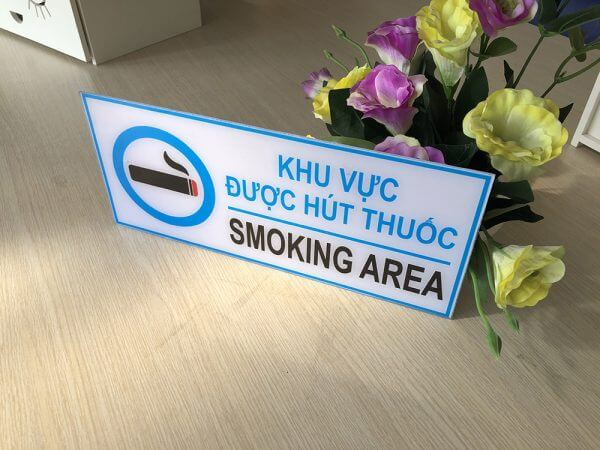 bảng smoking area