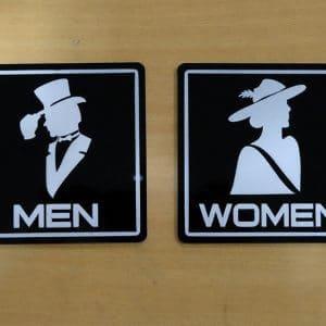 bảng toilet phân biệt nam nữ