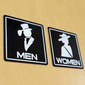 Bảng WC phân biệt nhà vệ sinh nam nữ riêng biệt