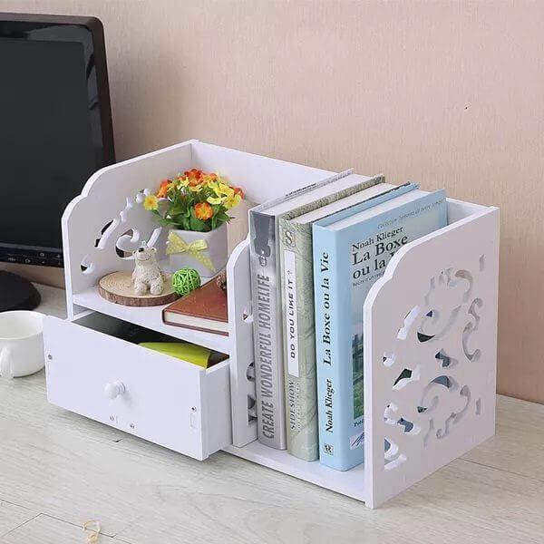 Kệ sách để bàn mini gỗ nhựa PVC giá rẻ