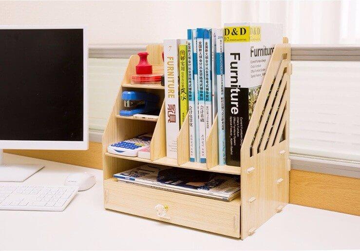 mẫu kệ văn phòng bằng gỗ MDF