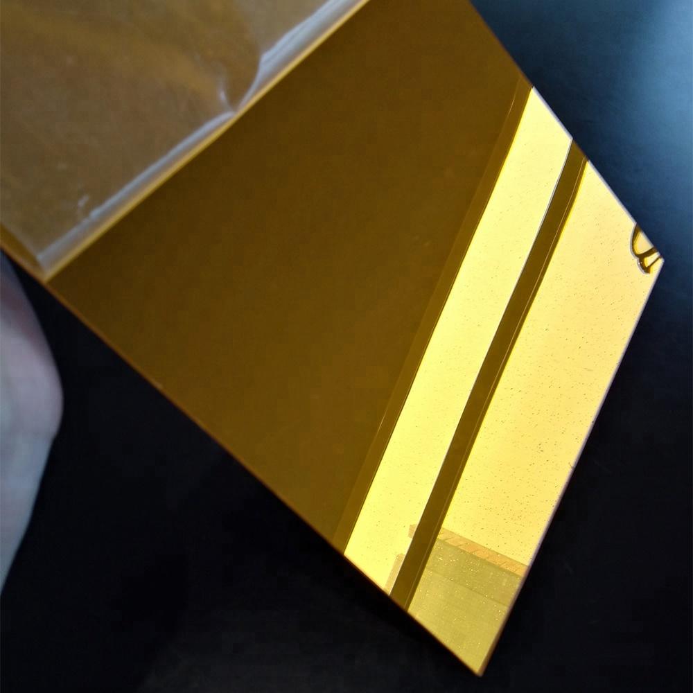 Tấm mica gương vàng đồng