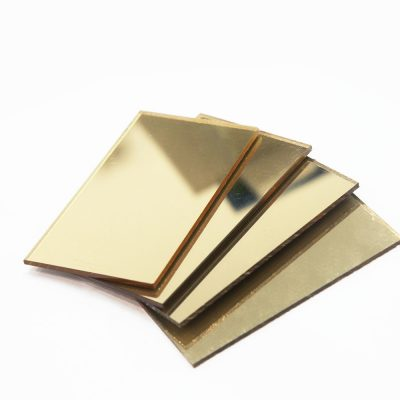 Tấm mica gương màu vàng đồng