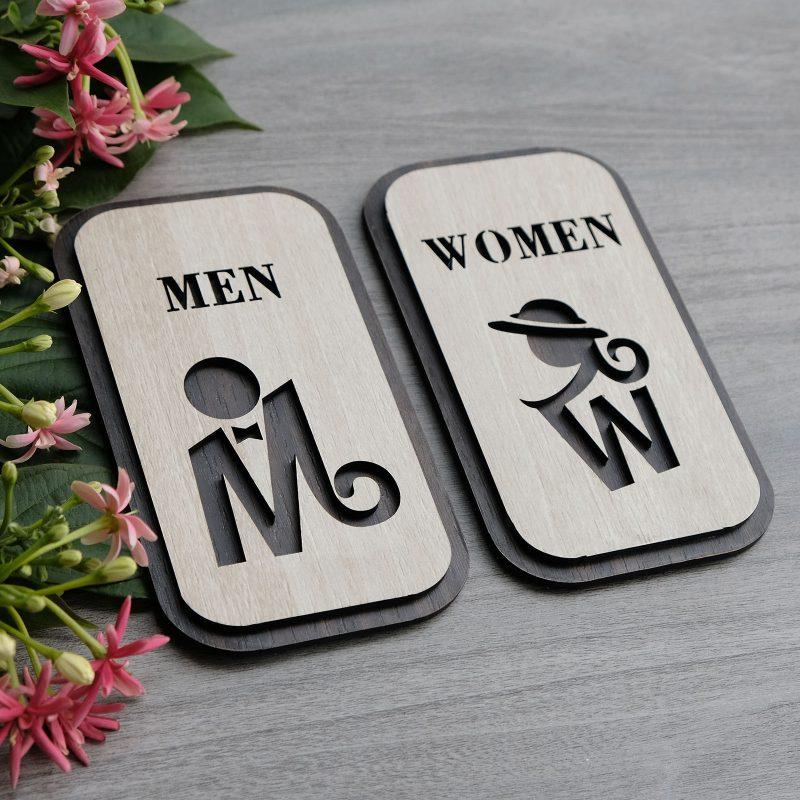 Bảng nhận biết nhà vệ sinh nam nữ