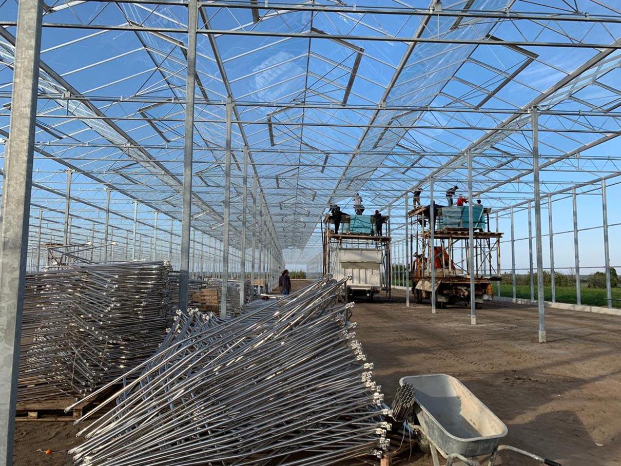cấu trúc khung đỡ của nhà kính nông nghiệp