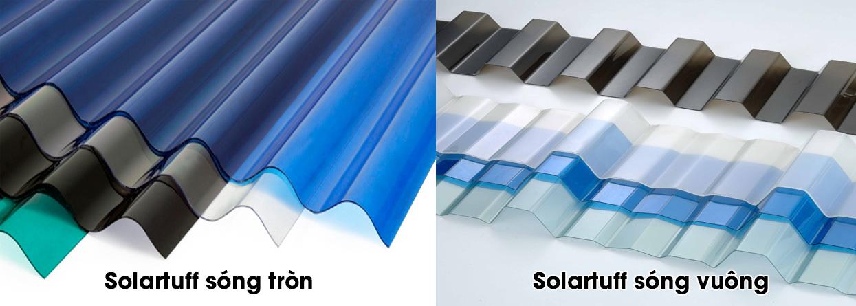 So sánh tôn lấy sáng polycarbonate solartuff sóng tròn với sóng vuông