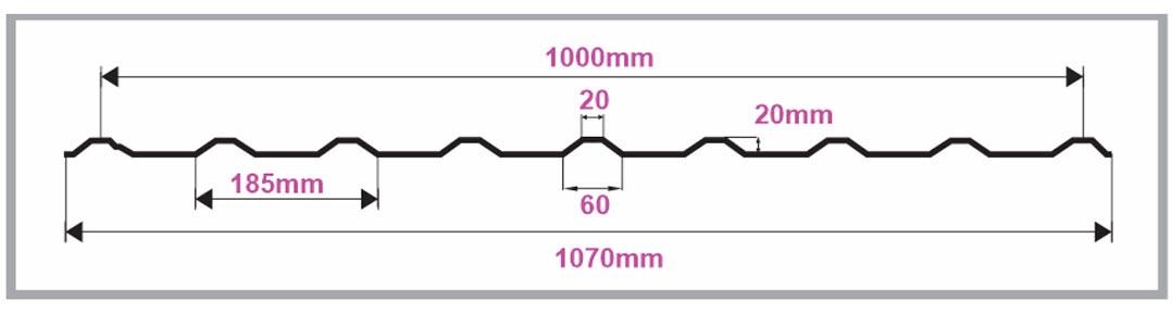 thông số kỹ thuật tấm tôn lấy sáng polycarbonate 9 sóng vuông nicelight